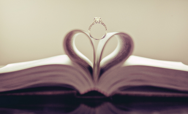 Wedding rings heart